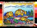 Menggambar Ikan Badut - How To Draw Nemo