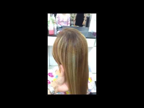 Phục hồi tóc tẩy nát ( bấm xù high light )...hệ luỵ của nhuộm màu thời trang