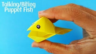 Origami Paper - Talking / Biting Puppet Fish - My Childhood models