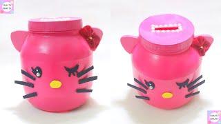 DIY Coin Bank/ DIY Hello Kitty Piggy bank/ DIY Piggy Bank / How to make Piggy Bank easy way