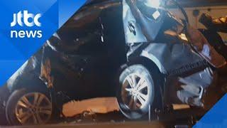상주-영천 고속도로서 가드레일 충돌 사고…2명 사망 / JTBC 아침&
