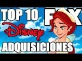 Top 10 Adquisiciones de FOX por Disney