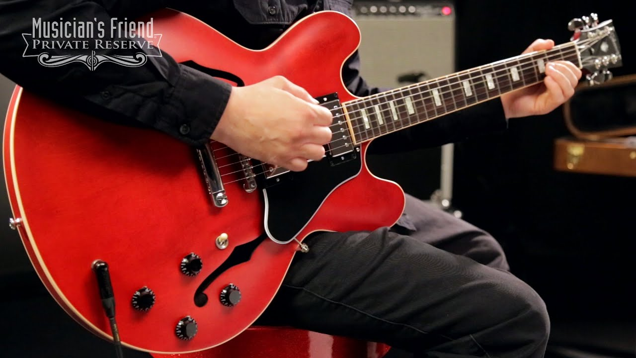 gibson 2016 es 335 satin semi hollow electric guitar youtube