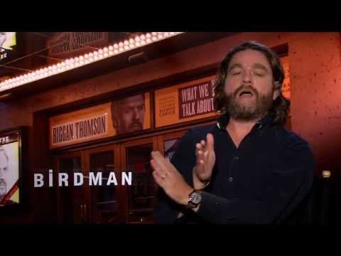 UNCENSORED: BIRDMAN interview with Zach Galifianakis - The Hangover, Michael Keaton