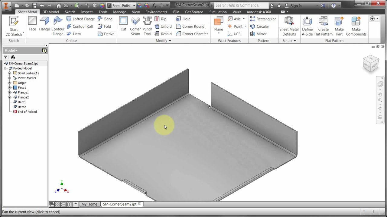 Inventor Sheet Metal Styles Youtube