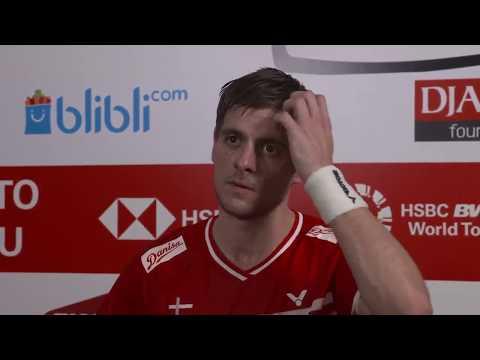 Hans-Kristian Vittinghus - Interview Setelah Pertandingan QF - Indonesia Masters 2018