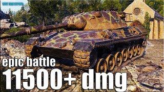 ЭКШОНЧИК НА НЕМЕЦКОМ СТ 11K DMG 🌟 World of Tanks Leopard 1