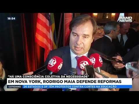 Em NY, Rodrigo Maia defende reformas