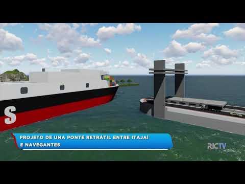 Projeto de uma ponte retrátil entre Itajaí e Navegantes