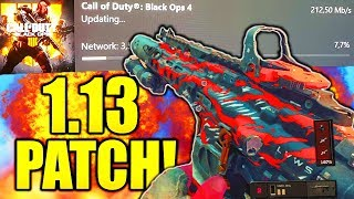 Black Ops 4 Patch 1.13.. (what is it)