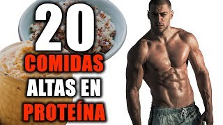 20 COMIDAS ALTAS EN PROTEÍNA