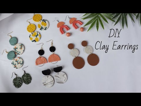 DIY Clay Earrings | Make Your Own Clay Earrings With These Easy Steps | Handmade Earrings - YouTube