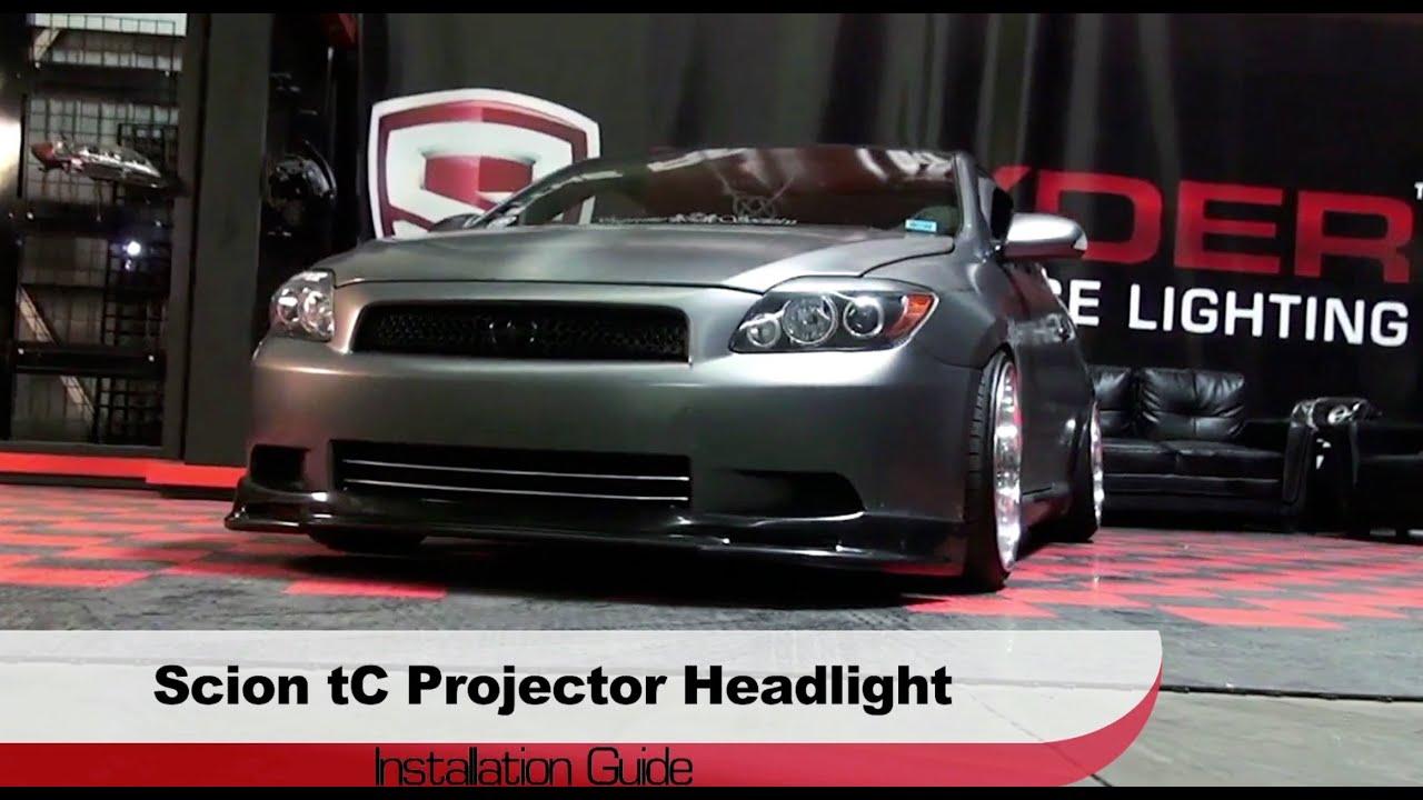 Spyder Auto Installation: 2008-10 Scion tC Projector ...
