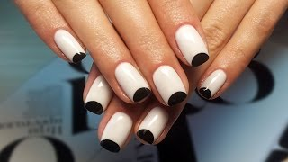 Дизайн ногтей гель-лак shellac - Маникюр PANDA (видео уроки дизайна ногтей)