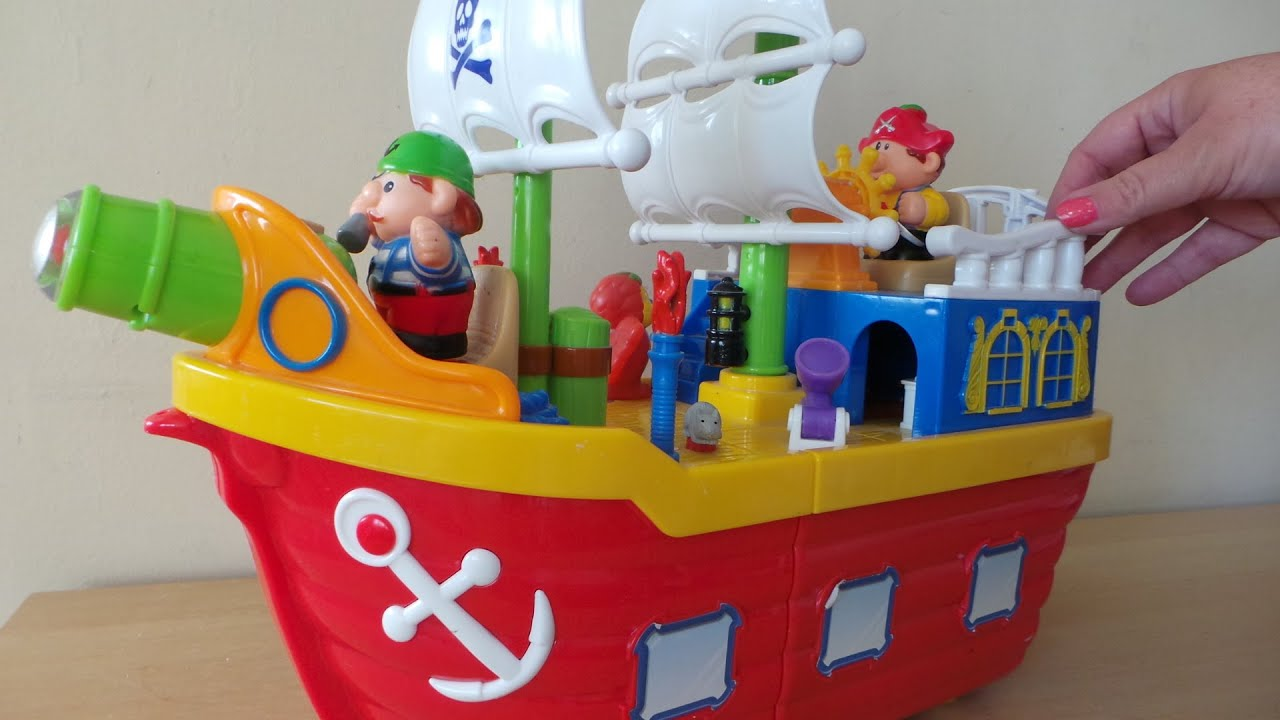 Kindergarten Pirate Ship And Pirates Playset Toy Review Youtube
