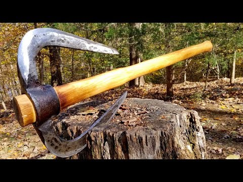 Forging a Battle Axe from a pick axe