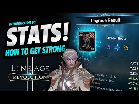 STATS! How to GET STRONG QUICK - Lineage 2: Revolution