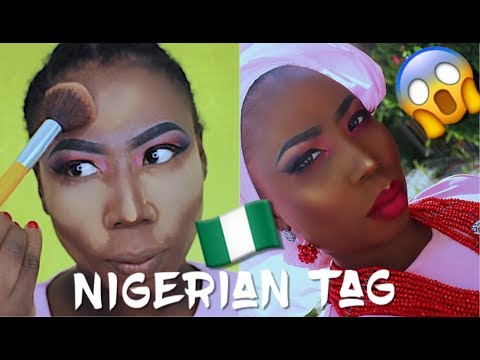 The Nigerian Tag | Amebo + Makeup Tutorial in Pidgin English (Nigerian Makeup Brand)
