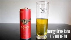 Royce Gold including Glass! - Energy Drink Review