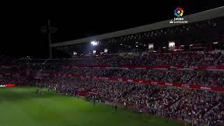 Calentamiento Granada CF vs FC Barcelona