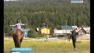 В Устьянском районе появился детский лагерь с конным кружком
