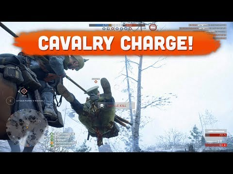 LANCE CAVALRY GAMEPLAY! - Battlefield 1 (Lupkow Pass DLC)