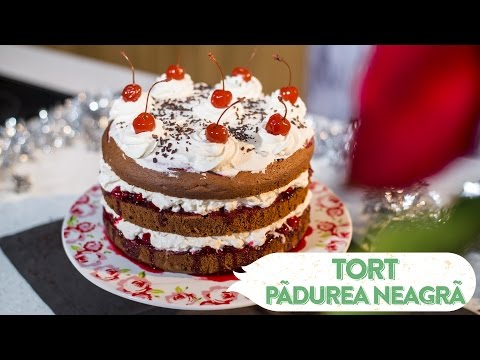 Reteta - Tort Padurea Neagra (Forêt-Noire)   Bucataras TV