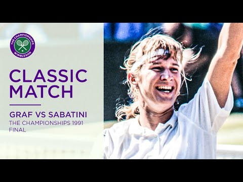 Steffi Graf Vs Gabriela Sabatini | Wimbledon 1991 Final | Full Match