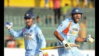 Sehwag and Yuvraj crushed Sri Lanka in Sri Lanka || 221 runs in 167 balls ||