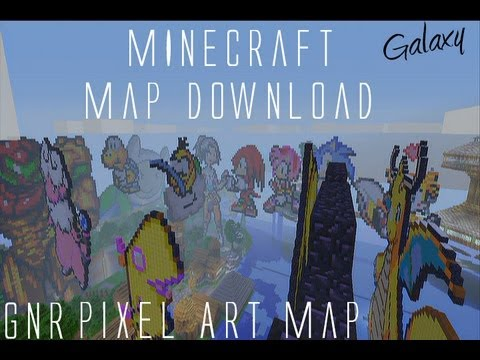 Minecraft gnr pixel art map download youtube minecraft gnr pixel art map download gumiabroncs Choice Image