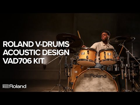 Introducing the Roland V-Drums Acoustic Design VAD706 Electronic Drum Kit