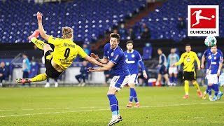 Erling Haaland is crazy! Incredible Volley Goal in Schalke vs. Dortmund