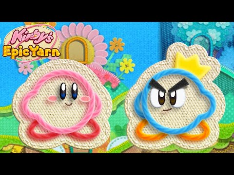 Kirby's Epic Yarn for Wii ᴴᴰ (2010) Full Playthrough (All Treasures, 2 Player)