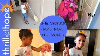 SHE WORKS HARD FOR THE MONEY [CHORES FOR KIDS, DAILY VLOG, A DAY IN THE LIFE]