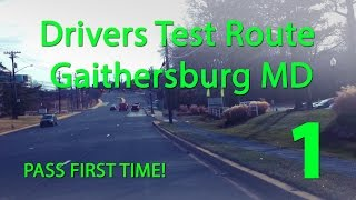 Gaithersburg Maryland MVA Drivers Test Route 1