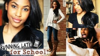 Running Late for School! Makeup, Hair, & Outfit + My Morning Routine