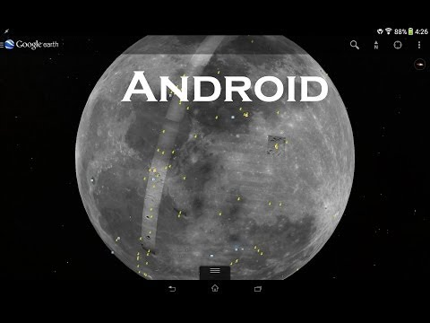 View Moon And Mars On Google Earth Mobile App