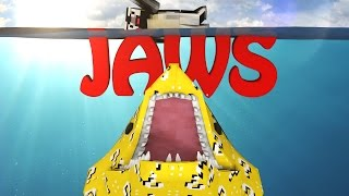 minecraft   lucky block boss challenge jaws shark attack sharks great white shark