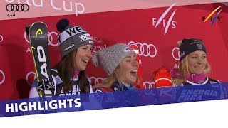 Shiffrin takes slalom for 7th World Cup win of season in Zagreb | Highlights