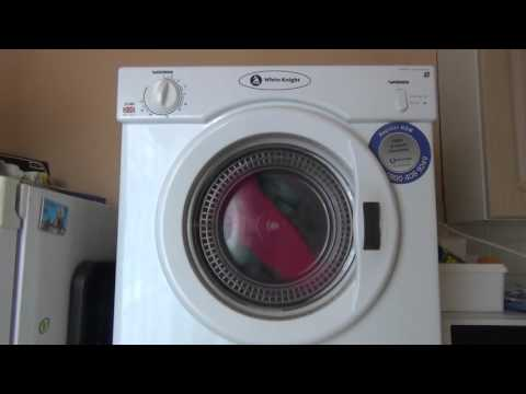 White Knight 37AW Compact 3kg Dryer : overview and dry