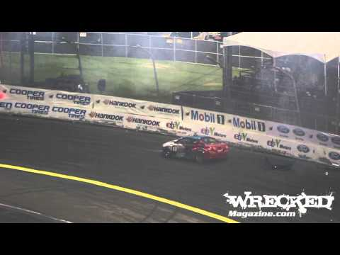 Tony Angelo Crashes Chasing JTP - 2012 Formula Drift Irwindale