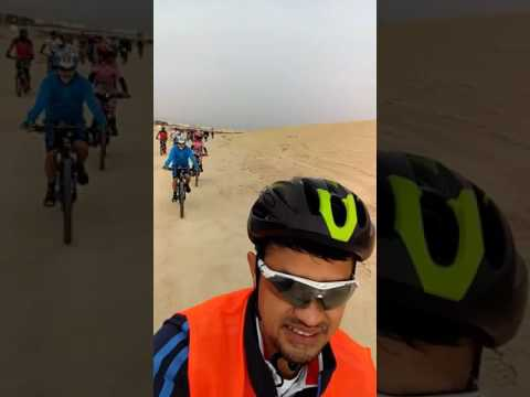 2nd Mtb Race familiarization race guide at Ahmadi Oasis kuwait by South Team.
