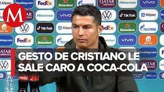 Acciones de Coca-Cola caen tras gesto de Cristiano Ronaldo; pierde 4 mil mdd