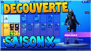 FORTNITE SAISON DECOUVERTE X! (FIGHT PASS - MAP) DUSTY DEPOT!