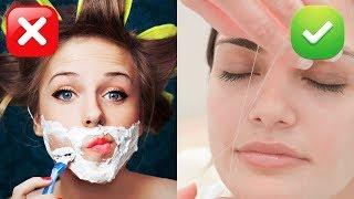 Удаление волос на лице в домашних условиях ниткой, как делать тридинг бровей и над губой