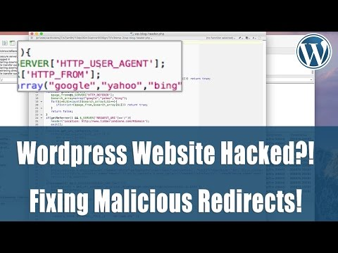 Hacked: Wordpress website redirects to spammy site? How to fix. Mp3