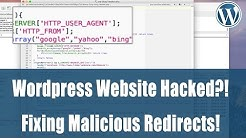 Hacked: WordPress website redirects to spammy site? How to fix.