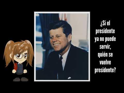 ¿Si el presidente ya no puede servir, quién se vuelve presidente?