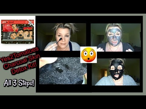 Yes To Tomatoes Charcoal Deep Detox Skin Care Set | All 3 Steps!