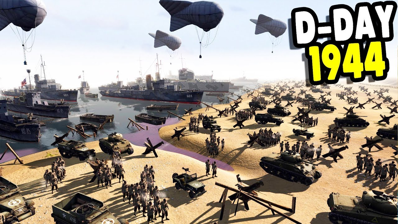 American Tanks Land at Normandy D-Day 1944 Invasion | RobZ Realism | Men of  War: Assault Squad 2